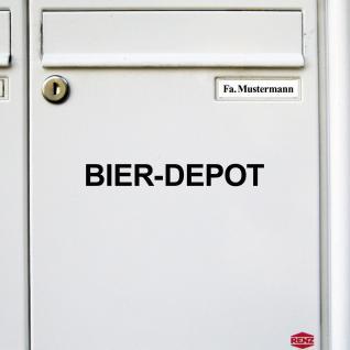 2 Stück Bier Depot 22cm schwarz Aufkleber Tattoo Deko Folie Kühlschrank Küche