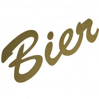 Bier 15cm gold Aufkleber Tattoo Deko Folie Schriftzug Kühlschrank Wandtattoo