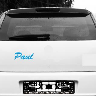 Paul 20cm blau Name Kinderzimmer Fenster Tür Heck Auto Folie Tattoo Aufkleber