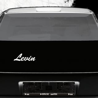 Levin 22cm weiß Kinder Name Fenster Tür Heck Auto Deko Folie Tattoo Aufkleber
