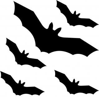 Fledermaus vampir set schwarz fenster schutz vogel v gel for Klebefolie fenster schwarz