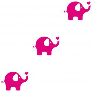 3 Stk. Elefant pink 20cm Deko Tattoo Folie Wandtattoo Aufkleber Kinderzimmer
