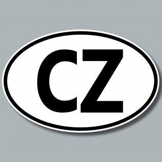 Aufkleber Auto Kennzeichen Länderkennzeichen CZ Tschechische Republik Tschechien
