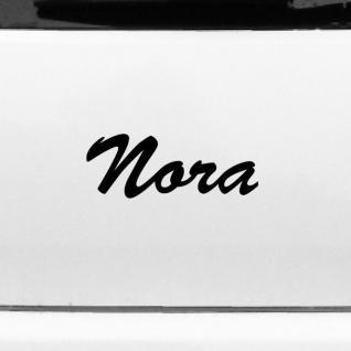 Nora 20cm Kinderzimmer Name Aufkleber Tattoo Deko Folie Auto Fenster Schrank Tür