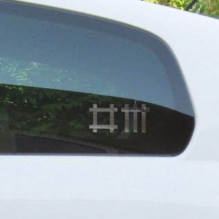 2 Aufkleber chrom 9cm gespiegelt Stäbchen Tattoo Auto Fenster Folie Depeche Mode