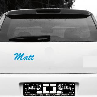 Matt 21cm blau Name Auto Fenster Tür Heck Aufkleber Tattoo die cut Deko Folie