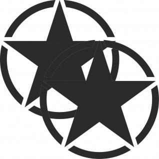 2 Aufkleber 20cm Tattoo schwarz matt USA US Sterne Auto Deko Folie Autoaufkleber