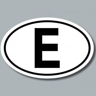Auto Pkw Kfz Kennzeichen Länderkennzeichen E Spanien Espana Aufkleber Sticker