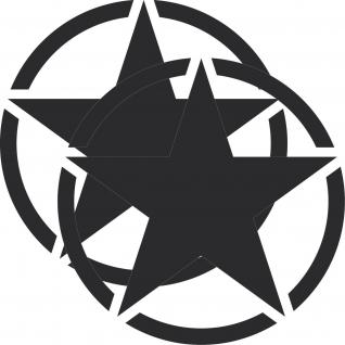 2 Aufkleber 25cm Tattoo schwarz matt USA US Sterne Auto Deko Folie Autoaufkleber
