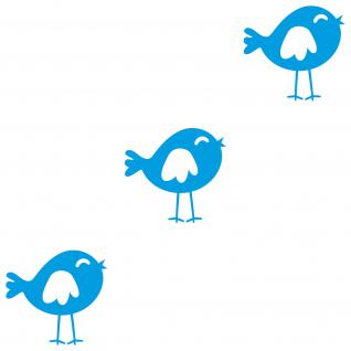 3 Vögel Vogel hellblau 20cm Deko Tattoo Folie Wandtattoo Aufkleber Kinderzimmer