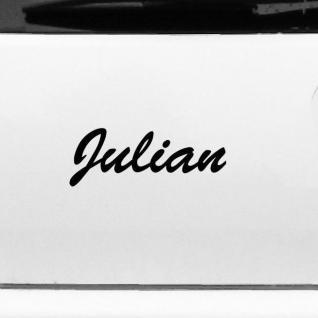 Julian 20cm Kinderzimmer Name Aufkleber Tattoo Deko Folie Auto Fenster Schrank