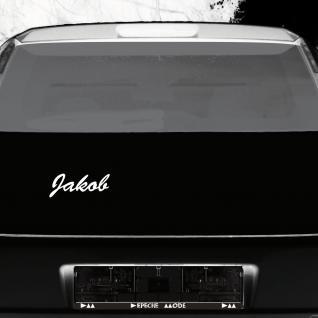 Jakob 19cm weiß Kinder Name Fenster Tür Heck Auto Deko Folie Tattoo Aufkleber