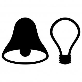 4 Aufkleber 5cm schwarz Tattoo Tür Taster Schalter Lampe Licht & Klingel Symbole