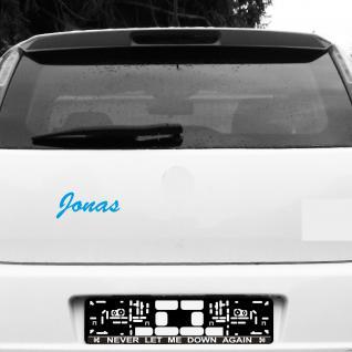 Jonas 18cm blau Kinder Name Fenster Tür Heck Auto Deko Folie Tattoo Aufkleber