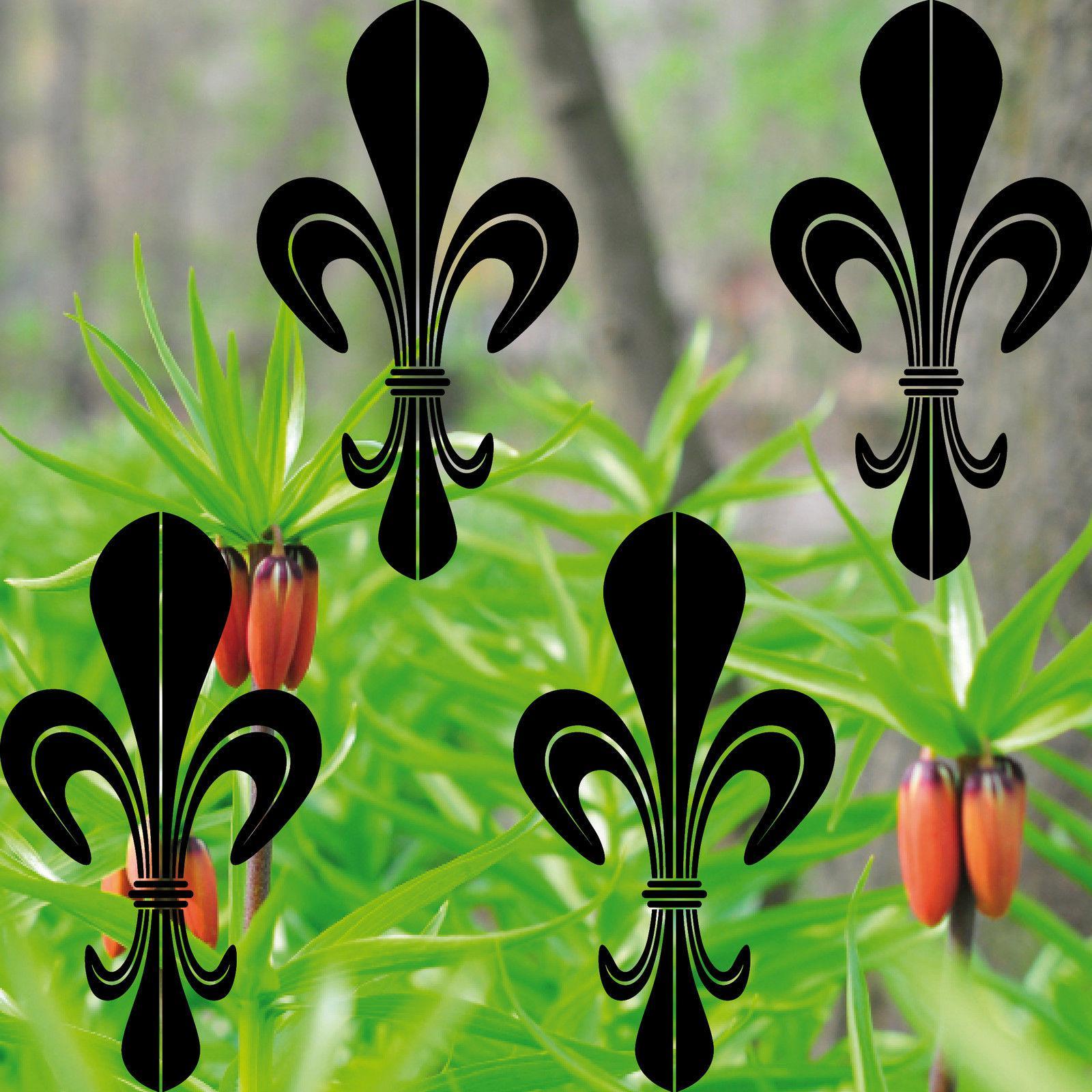 4 stück lilie 17cm schwarz lilien aufkleber tattoo die cut fesnter ...