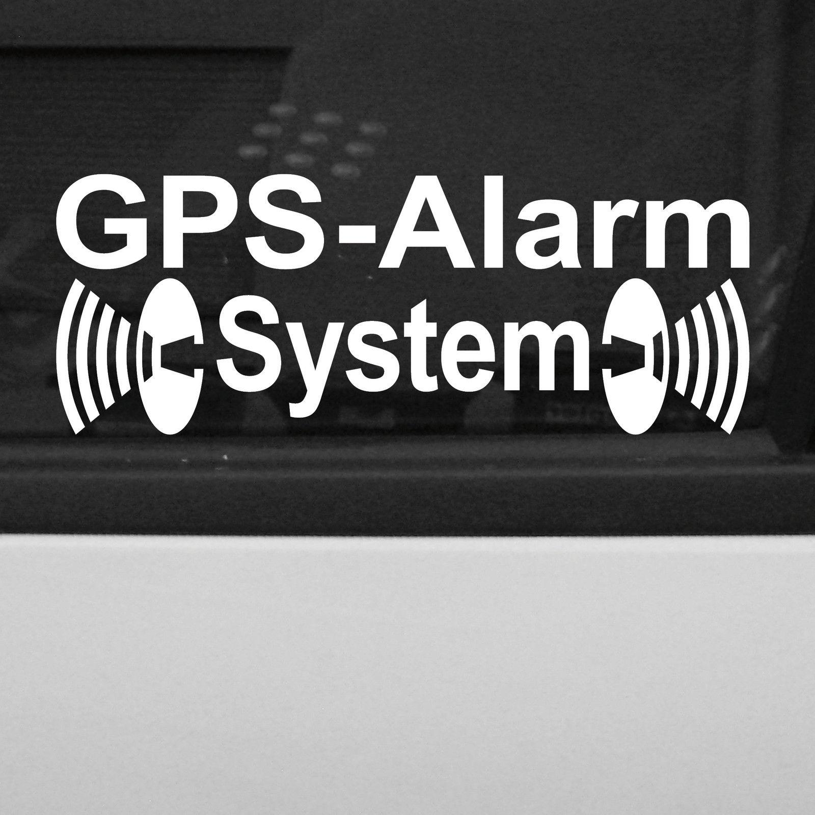 5 st ck gps alarm system wei gespiegelt aufkleber tattoo. Black Bedroom Furniture Sets. Home Design Ideas