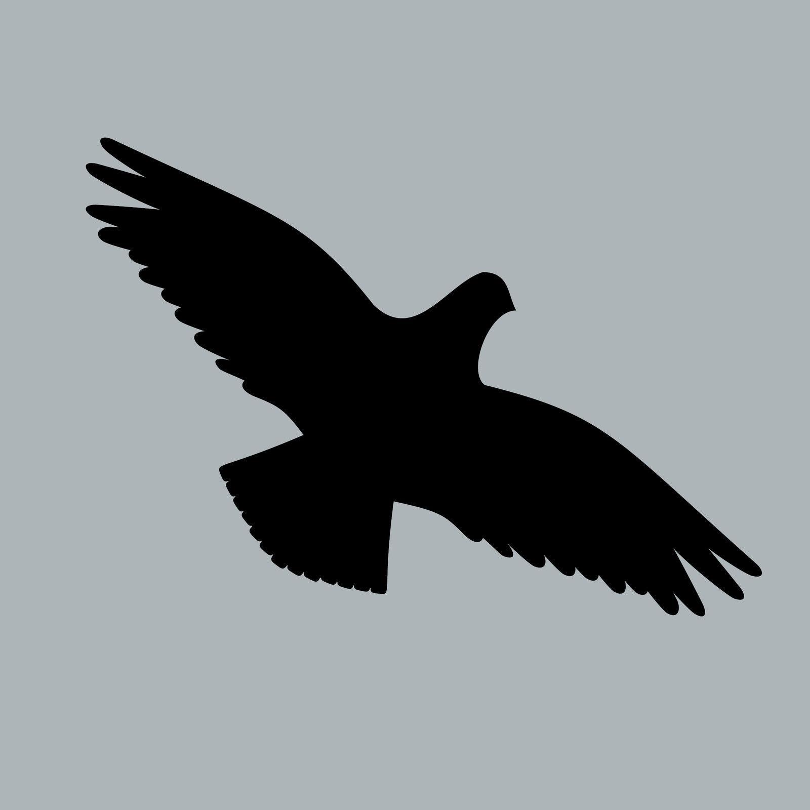 20 st ck vogel 20cm aufkleber fenster glas vogelschreck. Black Bedroom Furniture Sets. Home Design Ideas