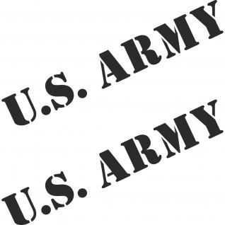 2 Aufkleber 50cm schwarz matt US ARMY Auto Tattoo Folie Schriftzug Autoaufkleber