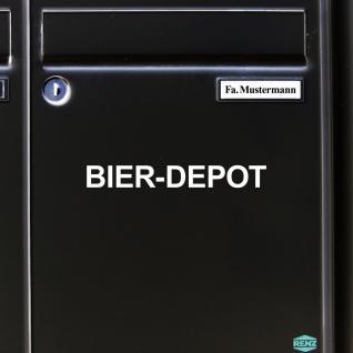 2 Stück Bier Depot 22cm weiß Aufkleber Tattoo Deko Folie Kühlschrank Küche Tür