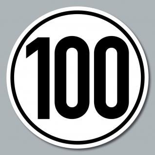 3 Stück Aufkleber Sticker 100 kmh km/h 20cm Geschwindigkeit Auto Bus Pkw DIN1451