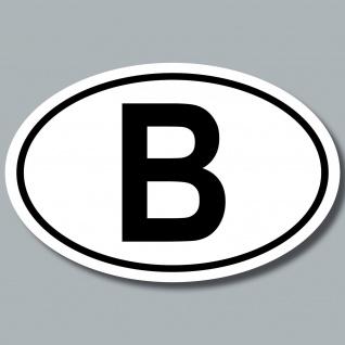 Auto Pkw Kfz Kennzeichen Länderkennzeichen Belgien BE BEL B Aufkleber Sticker