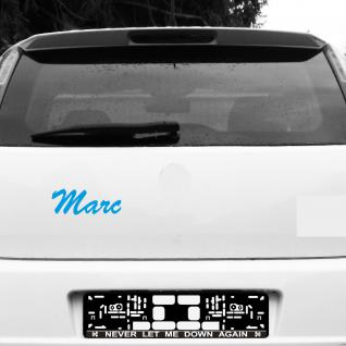 Marc 20cm blau Kinder Name Fenster Tür Heck Auto Deko Folie Tattoo Aufkleber