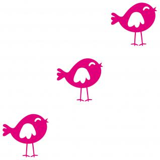 3 Stk. Vögel Vogel pink 20cm Deko Tattoo Folie Wandtattoo Aufkleber Kinderzimmer