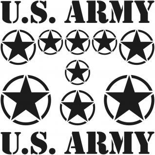 schwarz matt USA Sterne & Schrift US Army NAVY Auto Aufkleber Tattoo Deko Folie