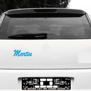 Martin 20cm blau Name Auto Fenster Tür Heck Aufkleber Tattoo die cut Deko Folie
