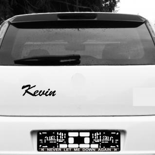 Kevin 22cm schwarz Kinder Name Fenster Tür Heck Auto Deko Folie Tattoo Aufkleber