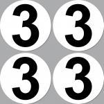 4 Aufkleber Sticker Nummer Zahl Startnummer 3 Racing Kart Gokart Auto Rennsport