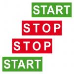 2 Sets Start Stop Aufkleber Sticker Wasser Spülkasten Spülung Toilette WC Bad