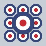 10 Aufkleber 3cm Sticker sign England GB UK Target Mod Scooter Vespa Roller Helm