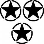 3 Aufkleber 7cm Tattoo schwarz USA US Sterne Auto Jeep Deko Folie Autoaufkleber
