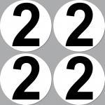 4 Aufkleber Sticker Nummer Zahl Startnummer 2 Racing Kart Gokart Auto Rennsport