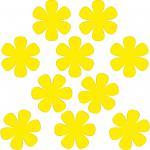 10 Stück 8cm gelb Blumen Blümchen Aufkleber Tattoo die cut Deko Folie Klebefolie
