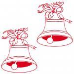 2 christmas bell bells Xmas Display Shop Home Window Door car Decals Stickers