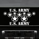 Set Sterne Schrift weiß US Army NAVY MP Auto Aufkleber Tattoo die cut Deko Folie