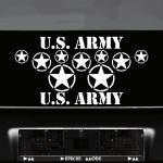Set USA Sterne & Schrift weiß US Army NAVY Auto Jeep Aufkleber Tattoo Deko Folie