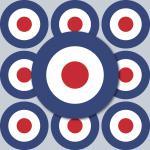20 Aufkleber 4cm Sticker sign England GB UK Target Mod Scooter Vespa Roller Helm