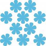 10 Stück 8cm blau Blumen Blümchen Aufkleber Tattoo die cut Deko Folie Klebefolie