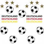 22 Teile Aufkleber Sticker Tattoo Auto Deko Folien Fußball Fan EM WM Deutschland