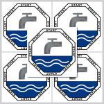 5 Stück 5cm START Aufkleber Sticker WC Bad Toilette Wasser Spülung Spülkasten
