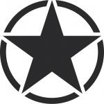 Aufkleber 30cm Tattoo schwarz matt USA US Stern Auto Deko Folie Autoaufkleber
