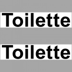 2 Aufkleber 20cm Toilette Sticker Hinweis für WC 00 Klo Tür Toilettentür
