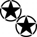 2 Aufkleber 10cm Tattoo schwarz USA US Sterne Auto Jeep Deko Folie Autoaufkleber