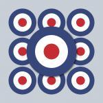 50 Aufkleber 3cm Sticker sign England GB UK Target Mod Scooter Vespa Roller Helm