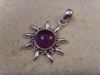Inka-Sonne-Amethyst 925er Silber