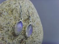 Mondstein - Ohrhänger Navette Form 925 Silber