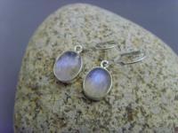 Ohrhänger - Mondstein oval - 925 Silber